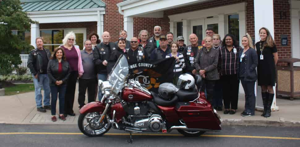 "The Orange County Harley Owners Group recently presented a check for $3,100 to Montefiore St. Luke's Cornwall's (MSLC) Littman Cancer Center. This generous donation was part of an event held in recognition of OCNYHOG's continued support of MSLC.   Held in honor one of their late members who passed away a few years ago, this annual reception began in 2016 when members of MSLC came together to celebrate the life of Salvatore P. Porcaro who lost his battle with cancer. Sal's daughter, Donna Florie, an MSLC registered nurse, suggested the proceeds from the first ""Sal's Ride"" come to the MSLC Littman Cancer Center.   ""We are extremely grateful for the Orange County Harley Owners Group's kindness and generosity,"" said Joan Cusack-McGuirk, MSLC President and CEO. ""We are so proud to receive this gift for the third year in a row from our dear friends at OCNYHOG. On behalf of the Littman Cancer Center team, the St. Luke's Cornwall Health System Foundation, and all of us at Montefiore St. Luke's Cornwall, thank you to the OCNYHOG Chapter—and our very own Donna Florie—for their continued generosity.""   This is the 3rd year in a row that OCNYHOG has selected the MSLC Littman Cancer Center as the recipient of the registration fees to their annual ""Sal's Ride"" event along with the money raised as part of their 50/50 raffle.  To learn more about oncology services at Montefiore St. Luke's Cornwall, please visit www.MontefioreSLC.org   About Orange County Harley Owners Group: OCNYHOG promotes responsible motorcycling activities for the Harley Owners Group members by conducting chapter activities and encouraging participation in other HOG events. Their goal is to increase the level of enthusiasm for riding Harley Davidson motorcycles and create a family-oriented atmosphere in which all members regardless of gender, race, age or political affiliation can live the Harley Davidson experience outside"